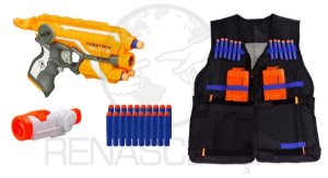 Nerf Firestrike + Colete + Scope + 20 Dardos