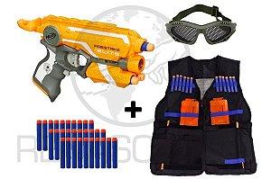 Firestrike Nerf Hasbro + Colete + Óculos + 30 Dardos