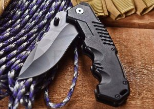 Canivete Tático De Camping Black Sable Fosfatizado