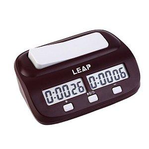 Relógio De Xadrez Leap Digital Compacto - Vermelho