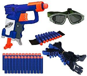 Arma Pistola Lançador Nerf Jolt + Acessórios E 20 Dardos