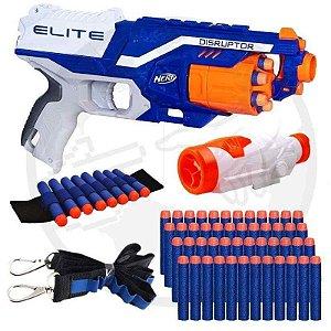 Arma De Brinquedo Nerf Disruptor + Acessórios + Dardos Bala