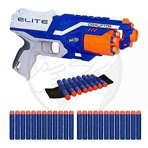 Arma De Brinquedo Nerf Disruptor + Pulseira + 30 Dardos Bala