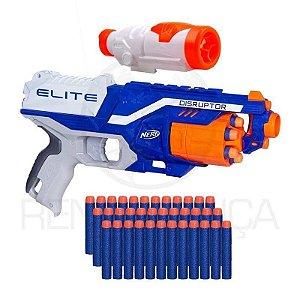 Arma De Brinquedo Nerf Disruptor + Scope + 30 Dardos Munição