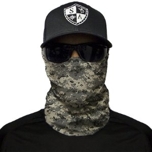 Bandana Balaclava Face Shield Camuflagem Digital Cinza