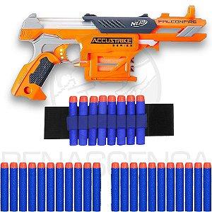 Lançador Falconfire + Pulseira + 30 Dardos Brinquedo