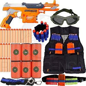 Super Kit Lançador Nerf Falconfire + Colete + Acessórios + 60 Dardos Brinquedo