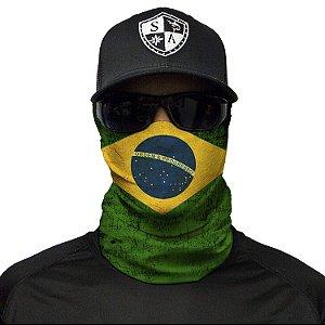 Bandana Balaclava Face Shield Bandeira Brasil Pesca Moto Camping