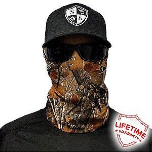 Bandana Balaclava Face Shield Camuflagem de Floresta Militar Exército Caça Pesca Camping