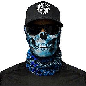 Bandana Balaclava Tática Face Shield Stealthtech Hydro Skull Caça Moto Pesca Camping