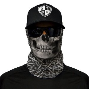 Bandana Balaclava Face Shield Hollow Head Balas Pesca Caça Moto Camping