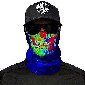 Bandana Balaclava Face Shield Galactic Skull Pesca Caça Moto Camping