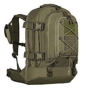 Mochila Invictus Duster Militar Camping 50 Litros - Verde