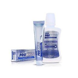 KIT  COM 1 GEL DENTAL PRO WHITE HINODE 90g +  1  ANTISSÉPTICO BUCAL PRO WHITE 250 ml