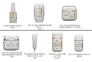 Kit De Tratamento Facial  Natskin Hinode  -7 Itens