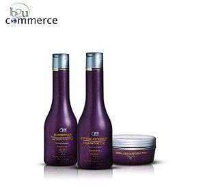 Shampoo, Condicionador e Máscara de Manutenção GAI - Hidratação Profunda - Pós Progressiva