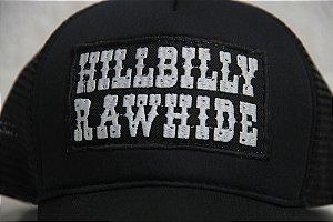 Boné Preto Hillbilly Rawhide