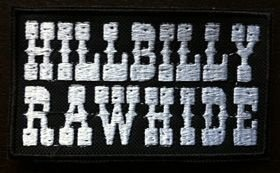 Patch Preto Pequeno Hillbilly Rawhide