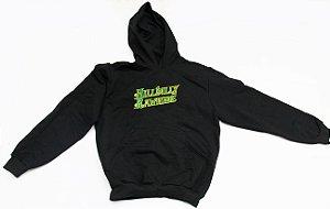 Moletom Hillbilly Rawhide Preto com Logo Verde