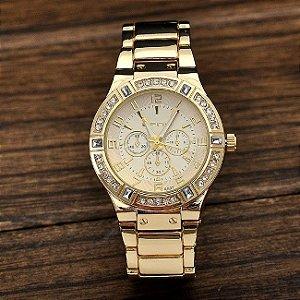 Relógio Feminino da Marca Snowtiger - Banhado a Ouro - Não resistente à água