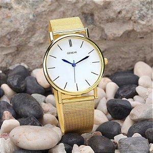 Relógio Geneve - Feminino - Aço Inoxidável
