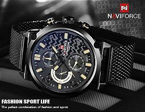 Relógio Naviforce Esportivo 3ATM Men