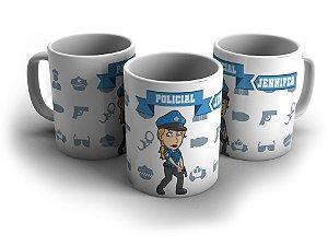 Canecas Personalizadas - Policial Feminina - com nome