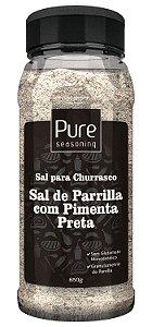 Sal para Churrasco Sal de Parrilla com Pimenta Preta