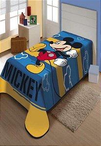 Cobertor Solteiro Mickey Feliz Jolitex 1,50x2,00