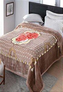 Cobertor Casal Raschel Plus Baltico Aveludado Jolitex