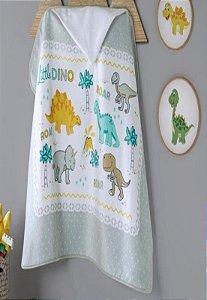 Toalha Banho Com Capuz Dohler Little Dino