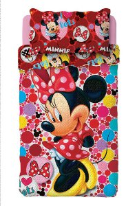 Kit Colcha Bouti Minnie Lepper c/ porta travesseiro