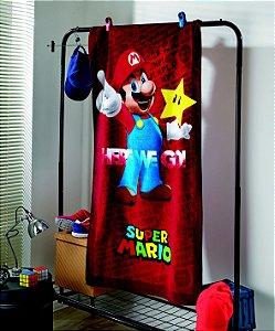 Toalha Banho Super Mario 03 Aveludada Dohler