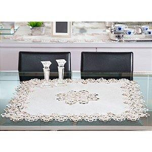 Toalha de mesa Rendada Veneza 085x085cm Jolitex