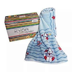 Cobertor Microfibra Flannel Baby Marinheiro Kyor Jolitex