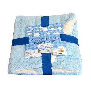 Cobertor Infantil Carneirinho Azul Jolitex com Sherpa