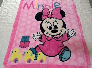 Cobertor Infantil Disney Minnie Patinhos