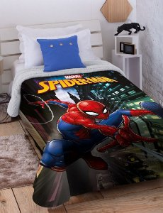 Cobertor Solteiro Homem Aranha Digital HD Sherpa Jolitex