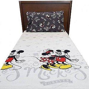 Kit Colcha Solteiro Disney Mickey e Minnie Dohler