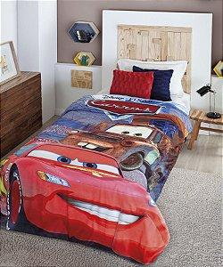 Cobertor Solteiro Carros McQueen HD Sherpa Jolitex