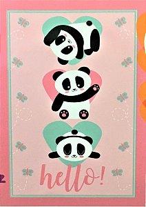 Manta Solteiro Fleece Panda Lepper