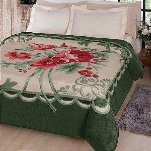 Cobertor Casal Kyor Fiore Verde Jolitex