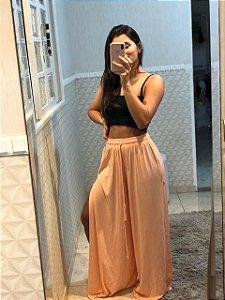 Pantalona Fenda Lateral Salmão