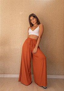 Pantalona Fenda Lateral Telha