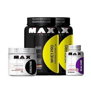 Combo 2 Whey Pro – Max Titanium