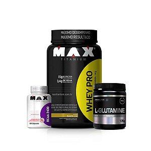Combo Whey Pro + L-Glutamine