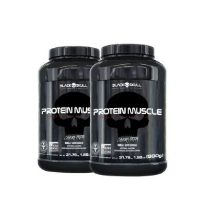 Combo 2 Protein Muscle - Black Skull