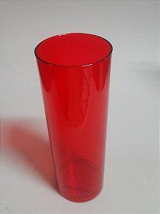 Long 320ml Vermelho Transparente