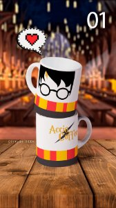 Canecas Harry Potter - Escolha o modelo! 300ml