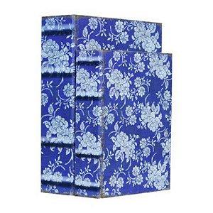 Conjunto 2 Caixas Livro Floral Azul